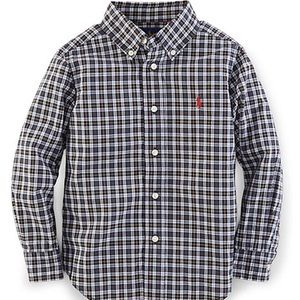 Ralph Lauren Blake Plaid Cotton Big Shirt